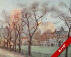 DEANS YARD WESTMINSTER LONDON OLD ENGLAND BRITISH ART CANVAS PAINTING PRINT