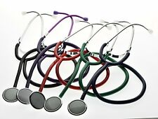Single Head Stethoscope Medical EMT Nurse Doctor Vet Student Adult Size Black