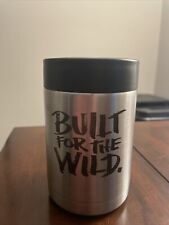 RARE YETI Rambler Colster 12 oz Can and Bottle Holder Silver Built for the Wild