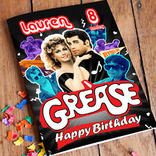 GREASE Travolta Newton-John Personalised Birthday Card! FAST 1st Class Shipping!