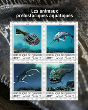 Djibouti Dinosaurs Stamps 2018 MNH Prehistoric Aquatic Water Animals 4v M/S