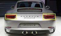 Neuf Véritable Porsche Carrera Arrière Droit Gauche Feu Kit Noir 99104490220 OEM