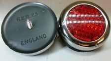 Land Rover Series 1 2 2a quality Lucas Repro RER25 Chrome Brass Reflectors x2