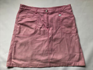 Ladies Daily Sports Skirt ( Shorts Lining) Size 16 Pink White