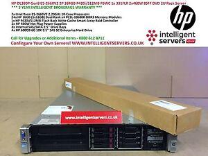 HP DL380p Gen8 2x E5-2660v2 384GB P420i/512MB FBWC 2x460W 4x 600GB SAS 2U Server