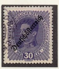 Austria 1918-19 Early Issue Fine Used 30h. Optd 220912