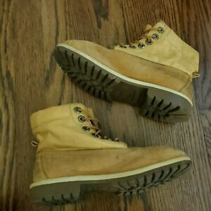 Timberland Expedition Nubuck Leather Boots Tan Junior Boys 4m Womens 5.5 GS