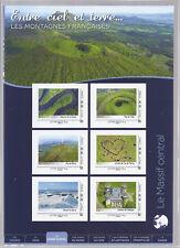 5 collectors de 6 timbres poste autocollants les montagnes Françaises