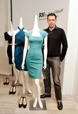 CHIC RARE Roland Mouret turquoise/black from 2010 Hong Kong Collection Dress