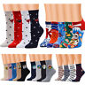 Fashion Women Cute Multi-Color Pattern Lady Socks Tube Socks Cartoon Socks UK