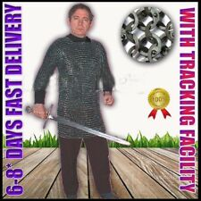 Stainless Steel Chain Mail Shirt Large Size Half Sleeve Full Flat Riveted Armor