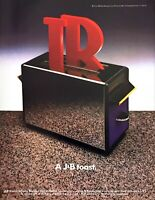 "1987 J&B Scotch Whisky Logo in Toaster photo ""A J&B Toast"" vintage print ad"