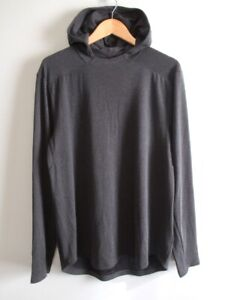NWOT Lululemon Mens Lightweight Mesh Long Sleeve Pullover Hoodie Charcoal Grey L