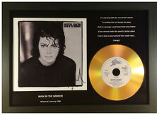 MICHAEL JACKSON 'MAN IN THE MIRROR' SIGNED GOLD DISC DISPLAY
