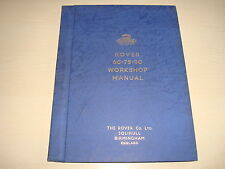 ROVER 60, 75, 95 OE FACTORY Workshop Manuale feb.1954 C/W CONFEZIONE ORIGINALE