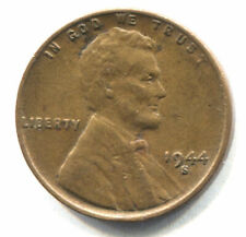 U.S. 1944 S Lincoln Wheat Penny - Shell Casing 1 Cent Coin - San Francisco Mint
