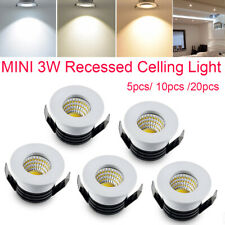 MINI 3W Recessed LED Under Cabinet Light Ceiling Spot Down Lighting Lamp Indoor