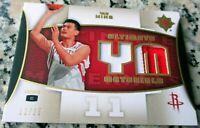 YAO MING 2007 Ultimate Patch SP #1 Draft Pick 12/25 Rockets Shanghai Sharks HOF