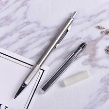 1Set 3.0mm HB Bleihalter Automatik Mechanischer Bleistift 4 Blei NachfüllungenYR