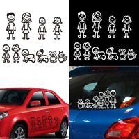 Autocollant de voiture de membre de famille Décalque de vinyle de décoration