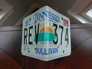 TN Tennessee License Plate Birdhouse Wood Wooden Sullivan Co USA State Handmade