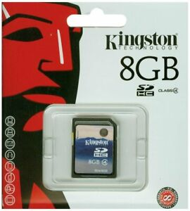 Kingston 8GB SDHC Class 4 Memory Card for Camera SD4/8GB