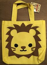 Super cute Japanese little reusable tote Bag Yellow Lion design - Daiso
