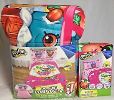 4-Piece Shopkins Reversible COMFORTER +Twin SHEET Set Microfiber Bedding NEW