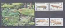 D.Virgin Islands 951-54+ Block 97 Lizards (MNH)