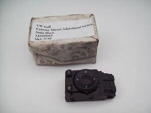 VW Golf Exterior Mirror Adjustment Switch Satin Black 1J1959565
