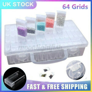 64 Pots Diamond Painting Storage Boxes Bead Organiser Tray Beads Embroidery