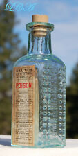 Antique POISON bottle VAPO CRESOLENE embossed w/ 1894 date across bottle - KS-14