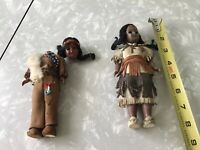 Pair Vintage DOLLS Native American Indian Estate Sale Find