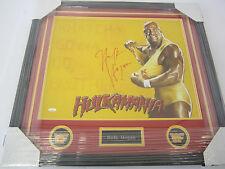 HULK HOGAN WWE WCW SIGNED FRAMED 16X20 PHOTO HULKAMANIA TRISTAR COA