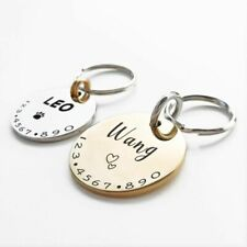 ID Tag Personalized Pet Cat Dog Collar Custom Engraved Necklace Chain Charm Name