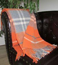 Manta de lana Cuadros Colcha Cubierta sofa funda Sofá 135x190cm 100%