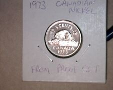 1973 BU PROOF CANADIAN NICKEL FROM PROOF SET