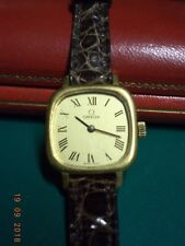 OMEGA ladies wrist-watch. 18 c. gold. Snake leather strap.1978.Original box.Exc!