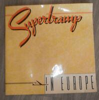 Supertramp in Europe Programme 1979 Breakfast In America Tour Roger Hodgson
