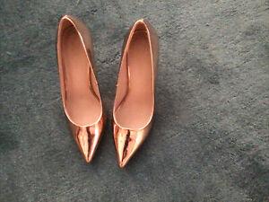 Rose Gold Mirror Stilettos ASOS Size 6 - Worn Once