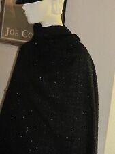tissu laine viscose sequins noir paillettes très couture 150 de large au mètre