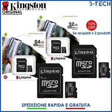 KINGSTON MicroSD 32/64 GB CLASS10 SCHEDA MEMORIA 100MB/s Micro SD 2020 ORIGINALE