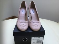 PINK BETHANEE EMBROIDERED LEATHER  COURT SHOES BY DUNE - SIZE 6 RRP £80