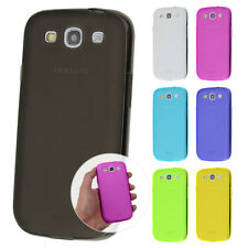 TPU Case Samsung S3 / S3 Neo Silikon Hülle Cover Matt Transparent Staub Schutz
