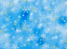 Fat Quarter Fabric Snowflakes Winter Snow 100% Cotton Quilting Treasures Fq