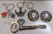 Lot of 5   Medieval Times Knight Helmet Unicorn Spinner Keychain, Magnet, Opener