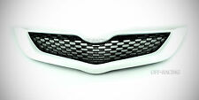 WHITE BLACK FRONT GRILL GRILLE NET FOR TOYOTA YARIS 4DR SEDAN VIOS BELTA 2006-12