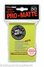 50 Ultra Pro Bright Yellowl Standard Pro-Matte Deck Protectors Card Sleeves.