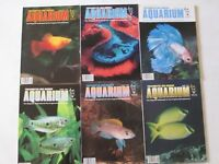 FRESHWATER & MARINE AQUARIUM MAGAZINE LOT 6 ISSUES Jan Feb Mar Apr May Jun 1996