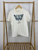 RARE VTG Dillon Fence Band Tour Promo White Short Sleeve T-Shirt Size L USA